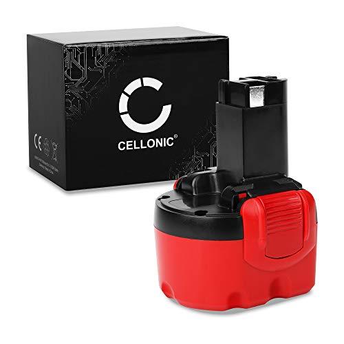 CELLONIC® Akku 9.6V, 3Ah, NiMH kompatibel mit Bosch PSR 960, PSR9.6 ve-2,Exact 6, GSR 9.6v Ersatzakku 2607335461, 2607335272, 2607335707, 2607335707, BAT048 Batterie Werkzeugakku