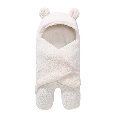 PQZATX Saeuglingsdecke warme Winter Neugeborenen Paket Schlafsack Krippe Quilt Baby Decke weiss