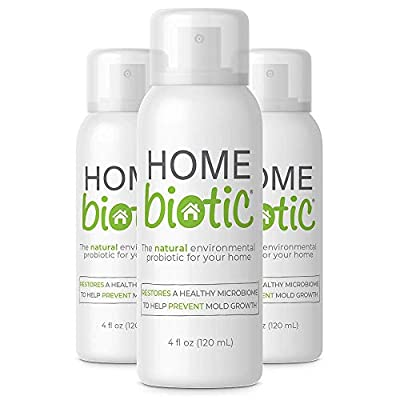 3 Pack Homebiotic All Natural Home Probiotic Spray Cleanser Eliminates and Protects Against Germs, Sanitizes and Removes Bad Odors, Kids and Pet Safe, Non GMO, 120ml
