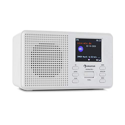 auna Commuter DAB+/FM Digitalradio - Bluetooth-Funktion, DAB+ sowie FM Tuner, 2.4