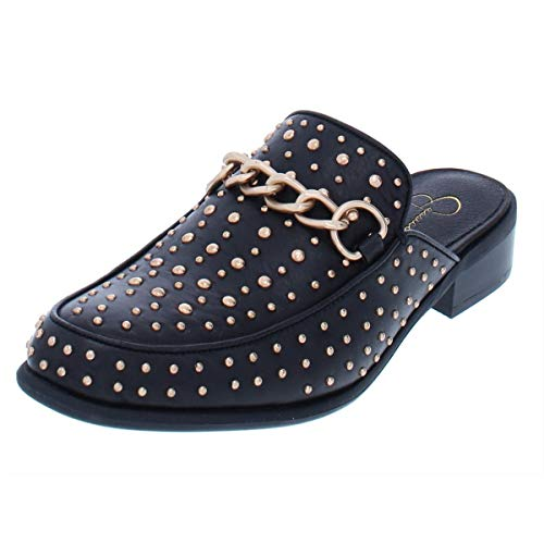 Jessica Simpson Womens Beez Studded Mules Loafers Shoes Black 7 M US