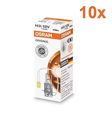 Osram H3 55 Watt 12 Volt PK22s 64151 (10 Stück) KFZ Lampe
