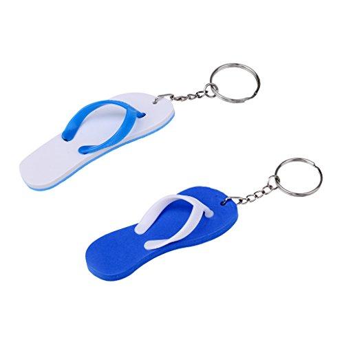 B Baosity 2X Flip-Flop Schlüsselanhänger Pantoffel Anhänger mit Schlüsselring Geschenk für Herren Damen