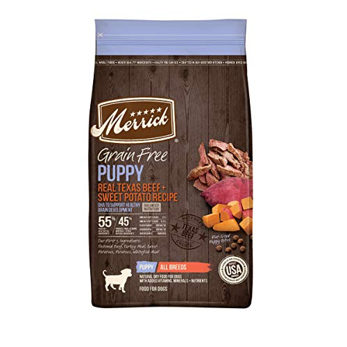 Merrick Grain Free Dry Puppy Food Real Beef & Sweet Potato Recipe - 4.0 lb Bag