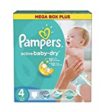 Couches Pampers - Taille 4 active baby dry - 325 couches bébé