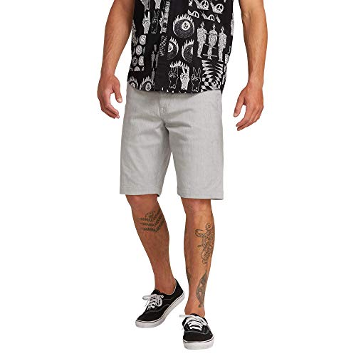Volcom FRCKN MDN Strch SHT Pantalón Corto, Hombre, Grey, 36