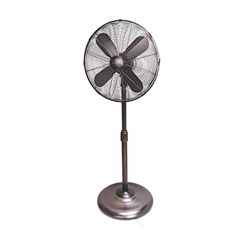 HOLMES HSF1606-BTU Stand Fan 16-inch Brushed Antique Nickle Finish