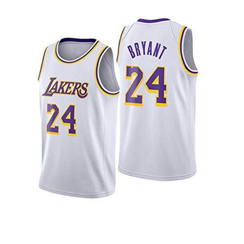 JHJU Uniformes de baloncesto para hombre y mujer Lakers Nº 24 chaleco de entrenamiento de baloncesto, tejido elástico y transpirable XXL B