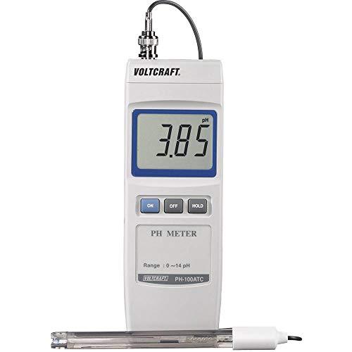 VOLTCRAFT PH-100 ATC Digitaler pH-Wert Messgerät von 0 bis 14 pH kalibriert nach Werksstandard