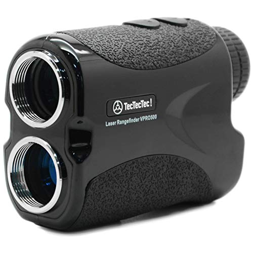 TecTecTec VPRO500 Golf Rangefinder - Laser Range Finder with Pinsensor - Laser Binoculars - with Battery