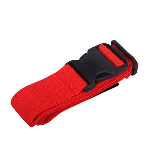 LIOOBO Gepäckgurte verstellbares Reisegepäck im Freien Packgurtgurt Sicherheitsgurtband (rot)