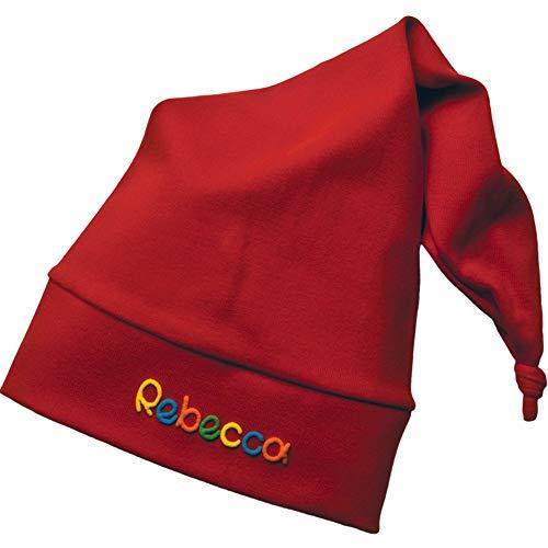 Zipfelmütze Rot mit Namen - Mütze für Kinder Winter personalisiert in verschiedenen Farben - Wintermütze Kindermütze Mädchen Junge mit Wunschbeschriftung