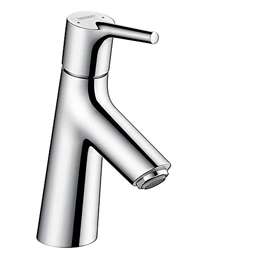 hansgrohe Wasserhahn Talis S (Armatur mit Auslauf Höhe 80mm und Push-Open Ablaufgarnitur) Chrom