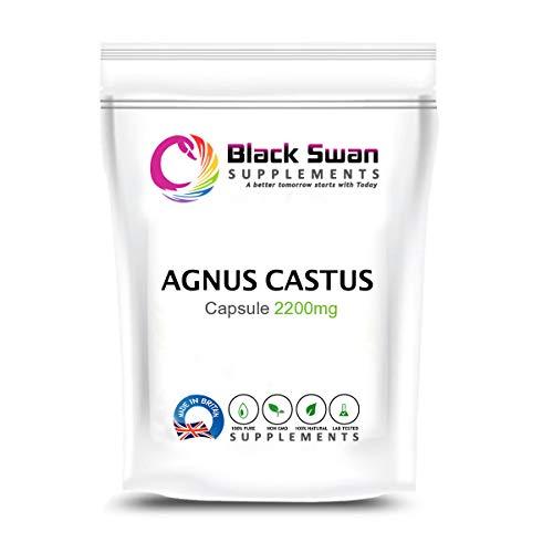 Swan Agnus Castus Supplement | Reduce Irritability, Menstrual Cramp, Mood Swings | Pre-Menstrual syndromes and Menopause | 2200mg High Strength Veg (120 caps)