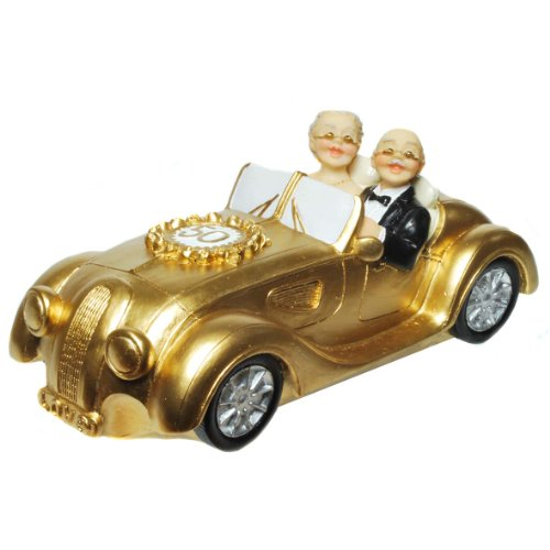 Kremers Schatzkiste Spardose Gold Hochzeitspaar Sparschwein Sparbüchse goldene Hochzeit