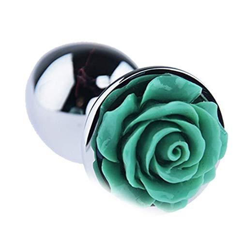 Dliso4 Rose Blume glatt Staninless Stahl Medium Size P'lug for Anfänger EIN □ l Kolben T □ y F □ Tish