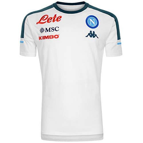 ssc napoli, T-Shirt Rappresentanza 2020/21 Team Unisex – Adulto, Blu Scuro-Azzurro Chiaro, XL