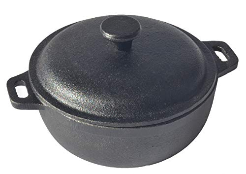 THE CHEF COLLECTION – Cacerola Tapa, Colección Vulcano, cocotte, cacerola hierro fundido, 0,5 L, 13,5x13,5x6,0 cm