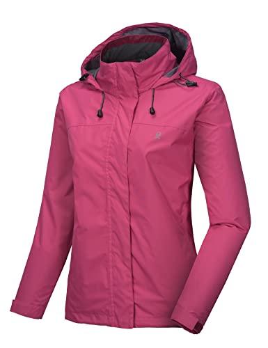Little Donkey Andy Women's Waterproof Rain Jacket Lightweight Outdoor Windbreaker Rain Coat Shell for Hiking, Travel Rose M