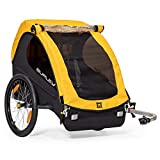 Burley Design Bee, 1 Seat, Lightweight, Kids Bike-Only Trailer, Yellow