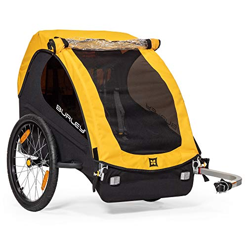 BURLEY Design Bee, 2 Seat, Lightweight, Kids Bike-Only Trailer, Yellow (946203)