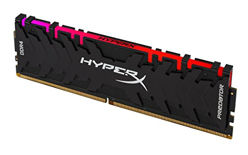 HyperX Predator DDR4 RGB 8GB 2933MHz CL15 DIMM XMP RAM Memory with Infrared Sync Technology Memory - Black (HX429C15PB3A/8)