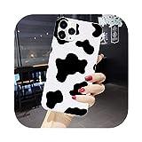 Cover per iPhone XS XR MAX 12 11 PRO Max 6S con simbolo di mucca bianca rosa per Iphoen 7 8 PLUS Case-7353-1-Per iPhone XS