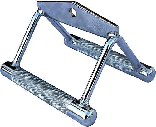 Lisaro Parallel Griff/Rudergriff Weiter | One Size | Vollstahl Chrom | Studioqualität | Zubehör für Latzug-Station, Kabelzugmaschine