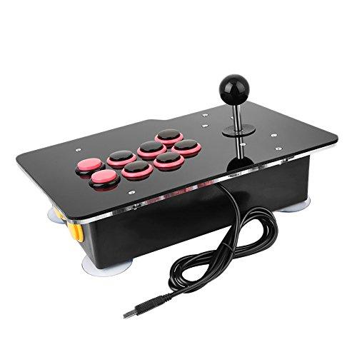 Cewaal Acrylic Zero Delay Arcade Juego Video Juego 8 Direcciones Joystick de palanca con cable Controlador de consola para PC Android
