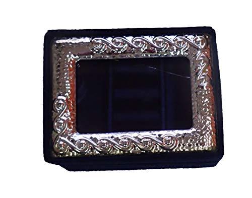 Bonita caja de joyas de viaje, fieltro azul y cristal de cristal. Ref: BLUJEWEL