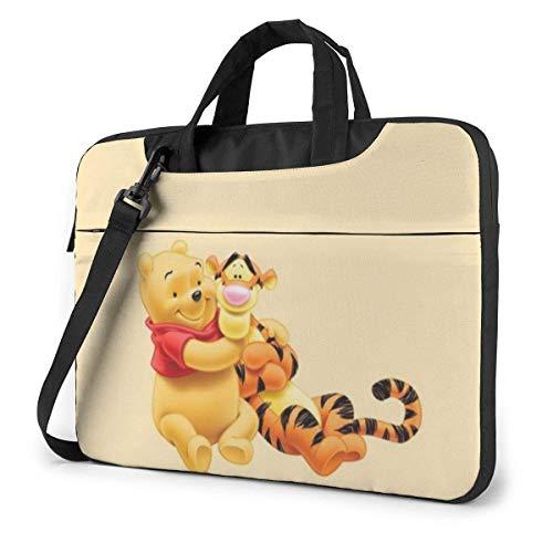 XCNGG Pooh and Tigger Maletín para portátil de Negocios para Hombres y Mujeres, Bandolera de Hombro, Funda para portátil, Bolsa de Transporte, 14 Pulgadas