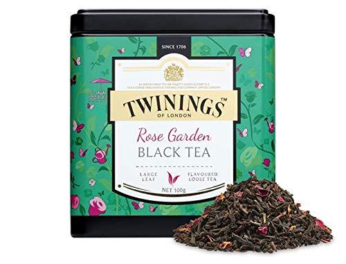Twinings Tea - Discovery Collection - Rose Garden Black Tea - 100gr / 3.52oz Caddy Loose Tea