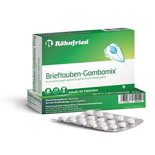 Röhnfried Gambamix - 10 mg Carnidazol - 60 Tabletten - gegen Trichomonanden - Parasiten-Medikament