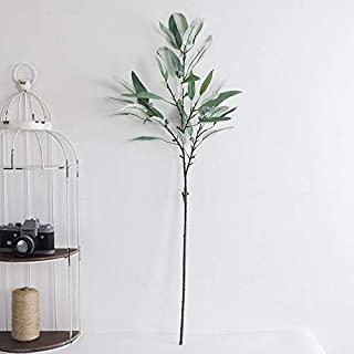 Hockus Decorations LAN Kwai Fong Artificial Flowers American 4 Fork Eucalyptus Leaves Simulation Plant Home Wedding Decoration European and America - (Color: 34Leaf)