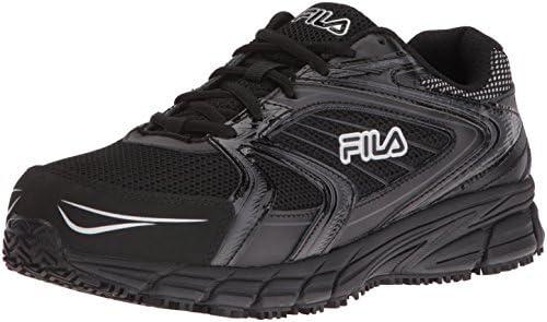 Fila Men s Memory Reckoning 7 Work Slip Resistant Steel Toe Running Shoe Black Black Metallic product image