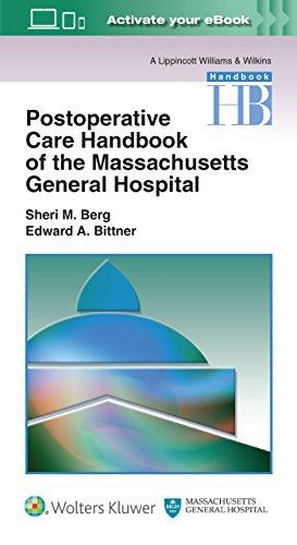 Postoperative Care Handbook of the Massachusetts General Hospital (A Lippincott Williams & Wilkins Handbook)
