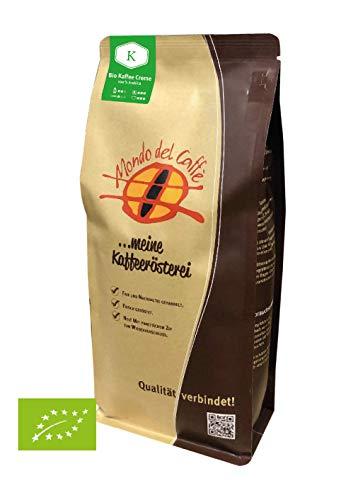 Bio Caffè Creme Premium Bio Kaffee 1 kg | ganze Bohne | kräftig Bohnenkaffee mit wenig Säure | 100% Arabica Blend | fair & direkt gehandelt | frisch & schonend geröstet