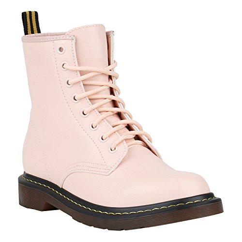 Coole Worker Boots Kinder Outdoor Stiefeletten Profilsohle Schuhe 150317 Rosa Brito 37 Flandell