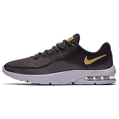 Nike Women's Air Max Advantage 2 Running Shoe Black/Metallic Gold/Obsidian Size 6.5 M US