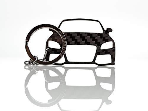 BlackStuff Portachiavi in Fibra di Carbonio Compatibile con TT MK2 8J 2006-2014 BS-143