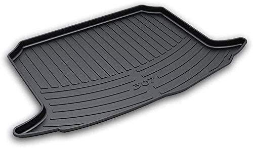 Maletero Alfombrillas para Peugeot 307 Hatchback 2011 2012 2013 2014 2015 2016 2017 2018 2019,Caucho Almohadilla de carga trasera del coche impermeable a prueba de polvo accesorios de modificación