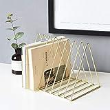 9-stufiges Dreieck Bücherregal, FOONEE Zeitschriftensammler Eisen Art Vintage Desktop-Datei Organizer für Zeitschriften, Bücher, Zeitungen in Badezimmer, Büro, den