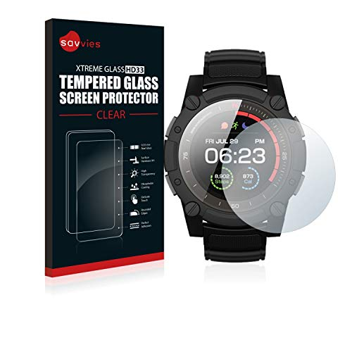 Savvies Panzerglas kompatibel mit Matrix Industries PowerWatch 2 - Echt-Glas, 9H Härte, Anti-Fingerprint