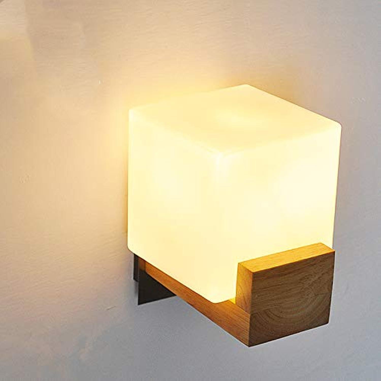 Wall Lampe LED-Teuchlampe Moderne Minimalist Warm Weiß Solid Wood Light für Aisle Balcony Lampe Wohnzimmer Wandlampe