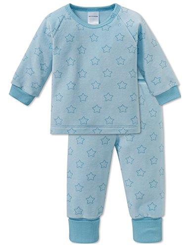 Schiesser Baby-Mädchen Einhorn Anzug 2-teilig Zweiteiliger Schlafanzug, Blau (Türkis 807), 74