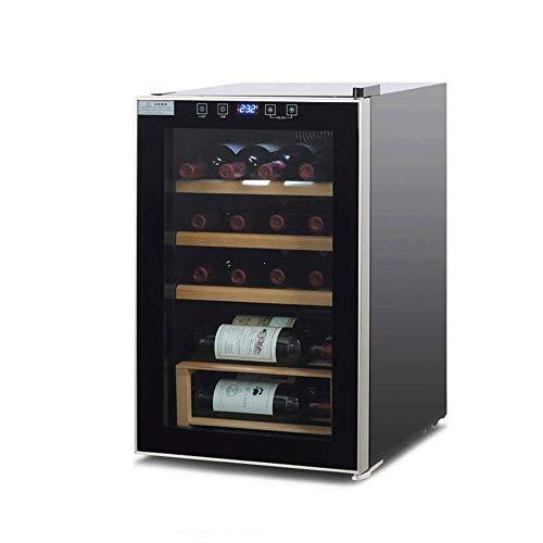 YFGQBCP Enfriador de Vino Frigorífico - Compresor Vino Enfriador de Botella - Zonas Misma MST de Rojo y Blanco - Tiendas de hasta 30 Botellas - Silent con Bajas Vibraciones - autónomo o empotrados