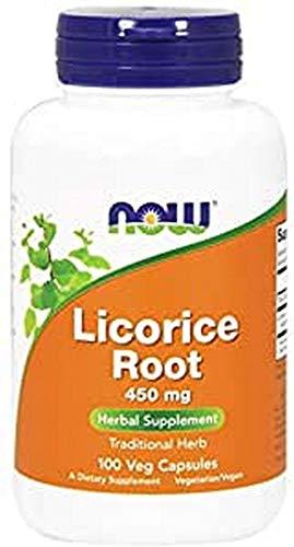 Now Foods | Licorice Root (Süßholzwurzel/Lakritzwurzel) | 450mg | 100 Kapseln | glutenfrei | sojafrei
