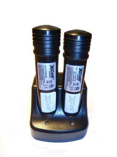 Ladegerät + 2 Akkus für Black&Decker VP-100 Versapack NI-MH, 3,6V, 2100mAh VP4000, VP4100, VP4