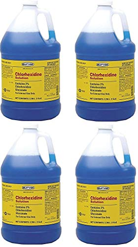Chlorhexidine (Case of 4) 2% for Horses & Dogs, One Gallon