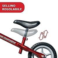 Chicco Red Bullet Bicicletta Bambini Senza Pedali 2-5 Anni, Bici Senza Pedali Balance Bike per l'Equilibrio, con Manubrio e Sellino Regolabili, Max 25 Kg, Rosso, Giochi Bambini 2-5 Anni #4